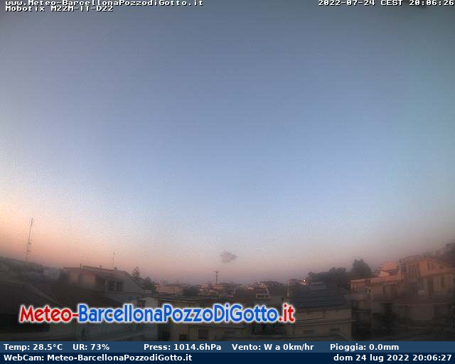 Webcam Barcellona Pozzo di Gotto - Meteo-BarcellonaPozzoDiGotto.it